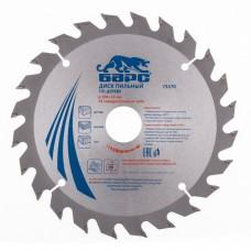Пильный диск по дереву 190 x 30 мм, 24 твердосплавных зуба. БАРС