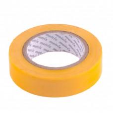 Изолента ПВХ, 15 мм х 10 м, желтая, 150 мкм. Matrix