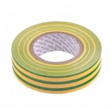Изолента ПВХ, 19 мм х 20 м, желто-зеленая, 150 мкм. Matrix