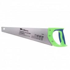 "Ножовка по дереву ""Зубец"", 350 мм, 7-8 TPI, калёный зуб 2D, двухкомпонентная рукоятка. СИБРТЕХ"
