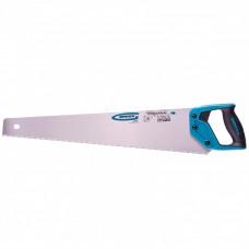 "Ножовка по дереву ""PIRANHA"", 550 мм, 7-8 TPI, зуб-3D, каленый зуб, двухкомпонентная рукоятка. GROSS"