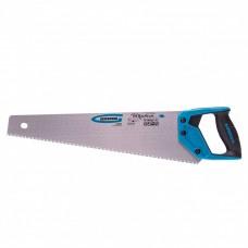 "Ножовка по дереву ""PIRANHA"", 450 мм, 7-8 TPI, зуб-3D, каленый зуб, двухкомпонентная рукоятка. GROSS"